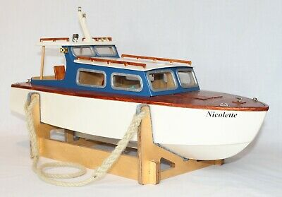 £180 • Buy Wooden Wood Model Boat Kit Radio Control RC With Fittings, Motor, Coupling CNC