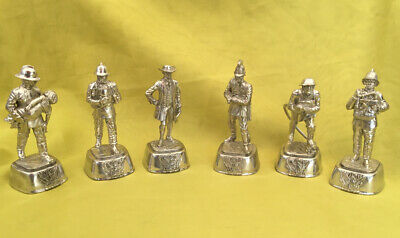 £120 • Buy Vintage Rare Charles Stadden 6 Pewter Firefighters Complete Bases And Covers.