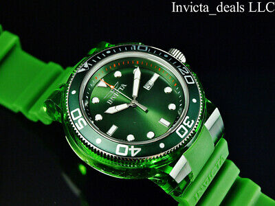 $69.99 • Buy Invicta Men's 52mm GRAND PRO DIVER ANATOMIC CASE Green Dial Green Tone SS Watch