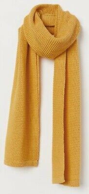 £1.99 • Buy H&M Knitted Scarf Yellow BOHO Mustard Brand New H & M Womans Womens Divided BNWT