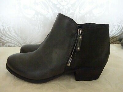 £29.99 • Buy Women's Moda Grey Leather Suede Ankle Boots Size UK 6.5 EU 40 NEW