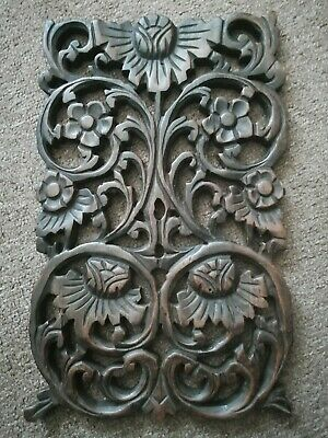£58 • Buy Vintage Wood Panel Wall Hanging Decor Home Antique Hand Carving