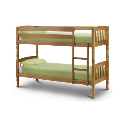 £439 • Buy Lincoln Bunk Bed - Solid Pine - With Memory Foam Matresses