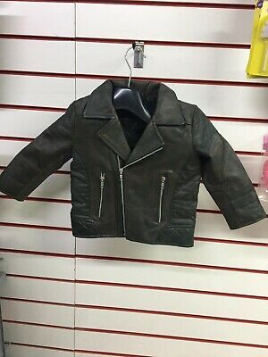 £23.50 • Buy Brand New Baby Leather Jacket 1/2 Years Black