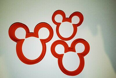 £3.89 • Buy Mickey Mouse Ears Set Of 3 Cookie Cutter, Pastry Or Playdough