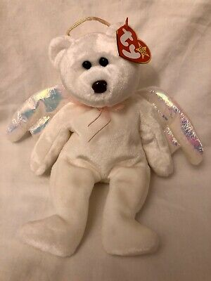 £4.99 • Buy Halo Angel Ty Beanie Babies Baby Iridescent Wings Soft Toy New With Tags
