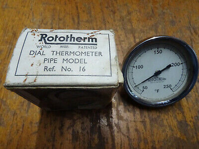 £10 • Buy Rototherm Dial Thermometer Pipe Model Ref No 16