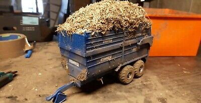 £45 • Buy Rare Britains Conversion  Stewart Silage Trailer Loaded For Tractor Siku