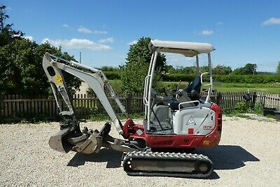 £12999 • Buy Takeuchi Tb216 Tracked Digger 2015 One Owner 2250 Hours Blade Buckets Expanding