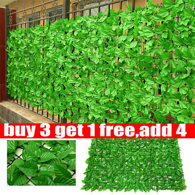 £7.79 • Buy Artificial Faux Ivy Leaf Hedge Panels Roll Privacy Screening Fence Decoration 1X