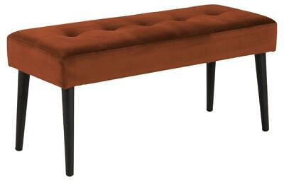£74.95 • Buy Actona Glory Bench Copper Upholstered Fabric Chair Stool 2 Seater