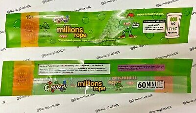 £9 • Buy 20 X Millions Apple Rope Candy - EMPTY Cali Pack Bag - For Gummies Sweets Gummy