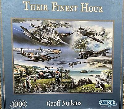 £2 • Buy Gibson's 1000 Piece Jigsaw Puzzles Pre Owned Their Finest Hour Good Condition.