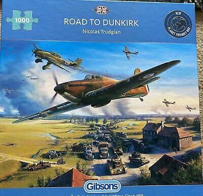 £2 • Buy Gibson (G6299) - Road To Dunkirk 1000 Piece Jigsaw Puzzle - (5012269062991)