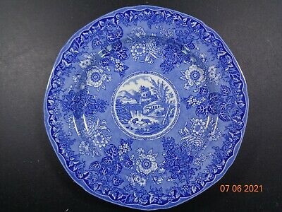£8.99 • Buy Burgess Leigh Ringtons Tea Pastoral Scenes Dinner Plate Perfect Blue & White