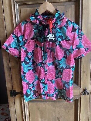 £8 • Buy Ladies Blouse S Hell Bunny Retro Cool Vintage Rose Design BNWT Rock Chic