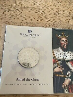£11 • Buy 2021 Alfred The Great UK £5 Coin In Royal Mint Sealed Pack