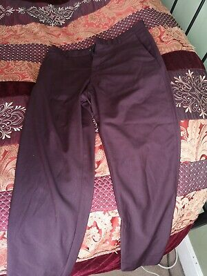 £8.50 • Buy Mens Wine Coloured Cos Trousers Size 50 =34 Waist. Slightly Flared Bottoms