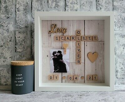£26 • Buy (b) Scrabble Picture Photo Frame Engagement Wedding Anniversary Family Friends