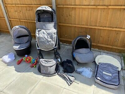 £165 • Buy Venicci 3 In 1 Travel System, Denim Grey Limited Edition With Accessories