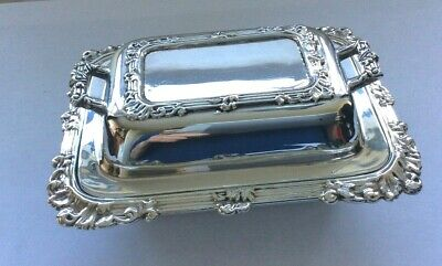 £24.99 • Buy Antique Silver Plated Butter Dish Miniature Tureen Rococo Design