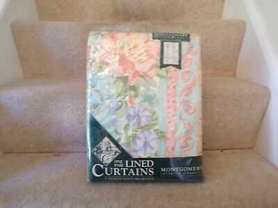 £2.50 • Buy Montgomery Interior Vintage Curtains NEW WRAPPED TO FIT TRACK 53  78  72  DROP
