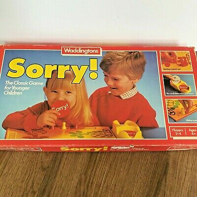 £14.99 • Buy Vintage Waddingtons 1983 Sorry Board Game - Complete  Age 4+