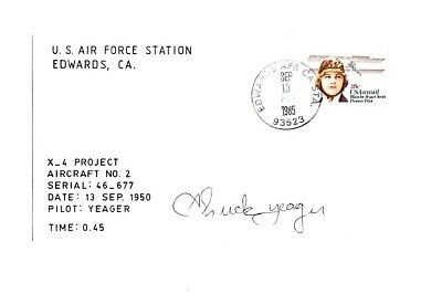 £63.18 • Buy  Chuck Yeager Signed X-4 Test Pilot Scott Crossfield Pete Knight Slick Goodlin