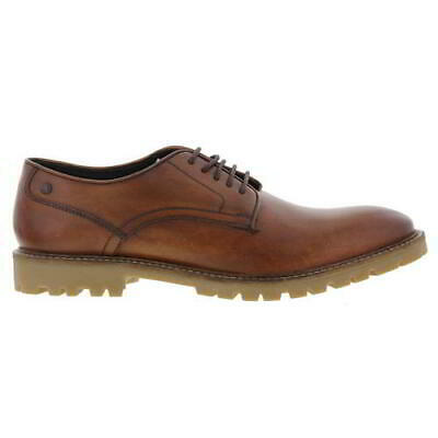 £19.99 • Buy Base London Bunker Mens Brown Tan Leather Lace Up Shoes Size UK 6-7