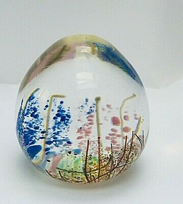 £29 • Buy Isle Of Wight Wild Flowers Glass Paperweight Signed William Walker