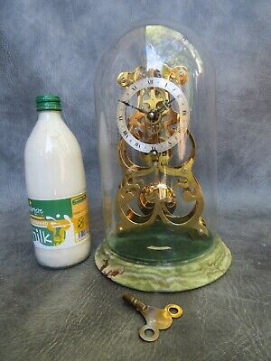 £112 • Buy A Lovely Quality Thwaites & Reed Skelton Clock Under Glass Dome *serviced*
