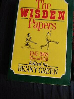 £6.50 • Buy Wisden Papers 1947- 1968 Anthology Of Interesting, Cricket Edited By Benny Green