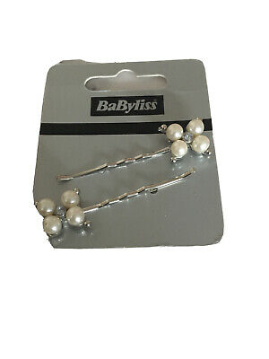 £2.29 • Buy Silver Tone Pearl Hair Pin Clip Sparkly Bobby Clips Pins Offer Uk Seller