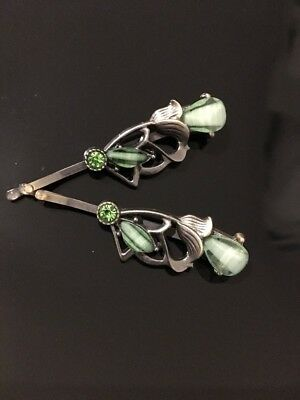 £2.29 • Buy * Summer Hair Green Hair Pin Clip Sparkly Bobby Clips  Special Offer RRP £4.99