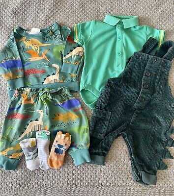 £4 • Buy Next Dinosaurs Baby Boy Clothes 0-3months Bundle