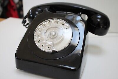 £39.99 • Buy GPO 746 Rotary Dial Telephone BLACK DIAL TONE TESTED 1977
