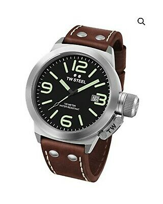 £64.49 • Buy TW Steel Canteen Leather Unisex Quartz Watch With Black Dial Analogue Display...