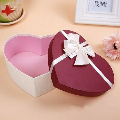 £12.97 • Buy 3-SET Heart Shaped Candy Boxes Gift Box Packaging Boxes Valentines Day RANDOM