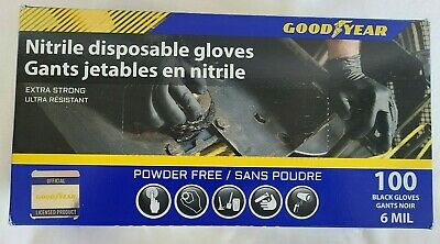 $ CDN60.72 • Buy Goodyear Black Nitrile Gloves Extra Strong Commercial Grade Power Free XL 6MIL