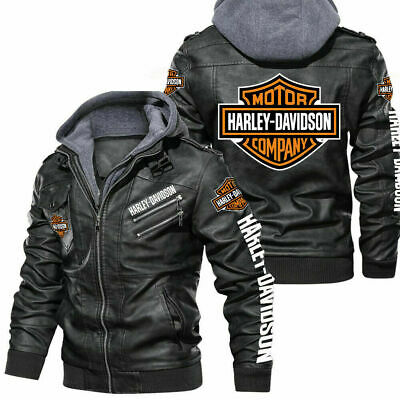 $ CDN140.33 • Buy Harley-Davidson - Fau.x Leather Jacket, So Cool-So Unique For Gift