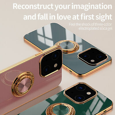 AU12.99 • Buy For IPhone 13 12 Pro Max Mini 11 XS/X XR 7 8 Plus Luxury Plating Ring Case Cover
