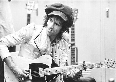 £13.50 • Buy Reproduction Keith Richards Poster,  Guitar , The Rolling Stones, Home Wall Art