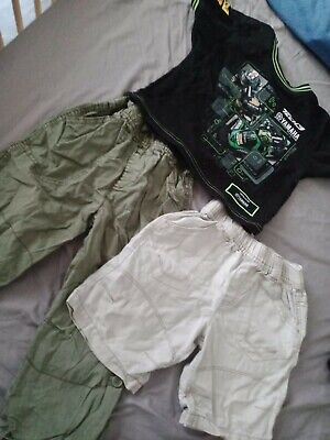 £0.99 • Buy Outfit Summer Spring Cargo Short &long Trousers Yamaha T-shirt 2-3 Years