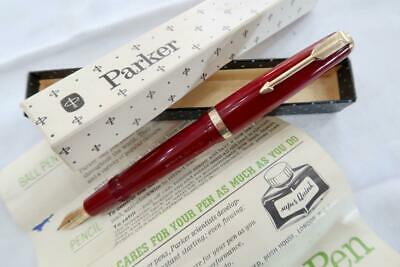 £6 • Buy Parker Duofold Fountain Pen, Burgundy 1952, Serviced & Boxed With Instructions