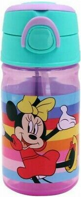 £8.90 • Buy Disney Minnie Mouse Plastic Sports Water Drinking Bottle 350 Ml 16 Cm Tall