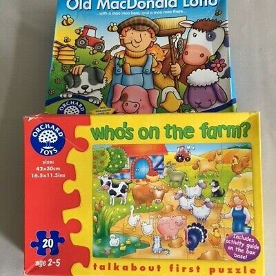 £2.50 • Buy 2 Orchard Toys, Old MacDonald Lotto And Who's On The Farm Jigsaw Puzzle, Age 2-6