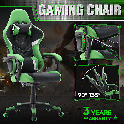AU149.90 • Buy Executive Office Gaming Chair Computer PU Leather Racer Recliner Seating Green