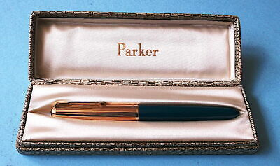 """£26.50 • Buy PARKER """"51"""" VINTAGE DARK BLUE FOUNTAIN PEN WITH ROLLED GOLD CAP (Boxed)"""