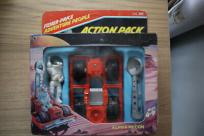 £29.99 • Buy Vintage '80s Fisher Price Toys Adventure SPACE ALPHA RECON Action Pack W/ Figure