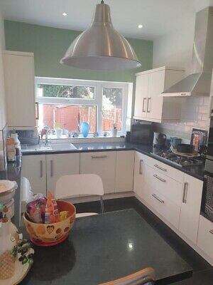 £125 • Buy Kitchen Doors,drawer Fronts,handles,no Hinges, Corian Sink,taps & Two Bar Chairs